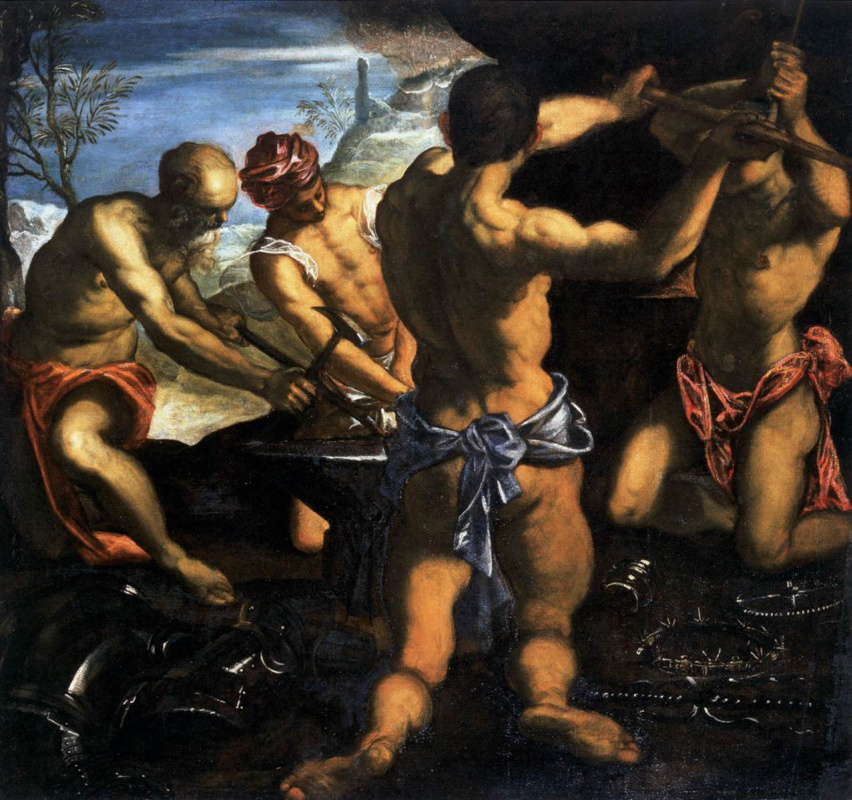 Jacopo (Robusti) Tintoretto. Vulcan Forge