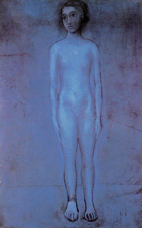 Пабло Пикассо. Стоящая юная обнаженная