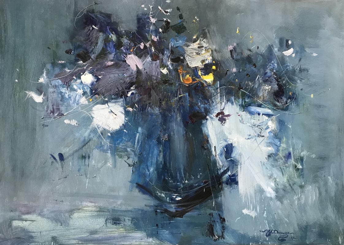 Ivan Stepanovich Danilov. Blue bouquet
