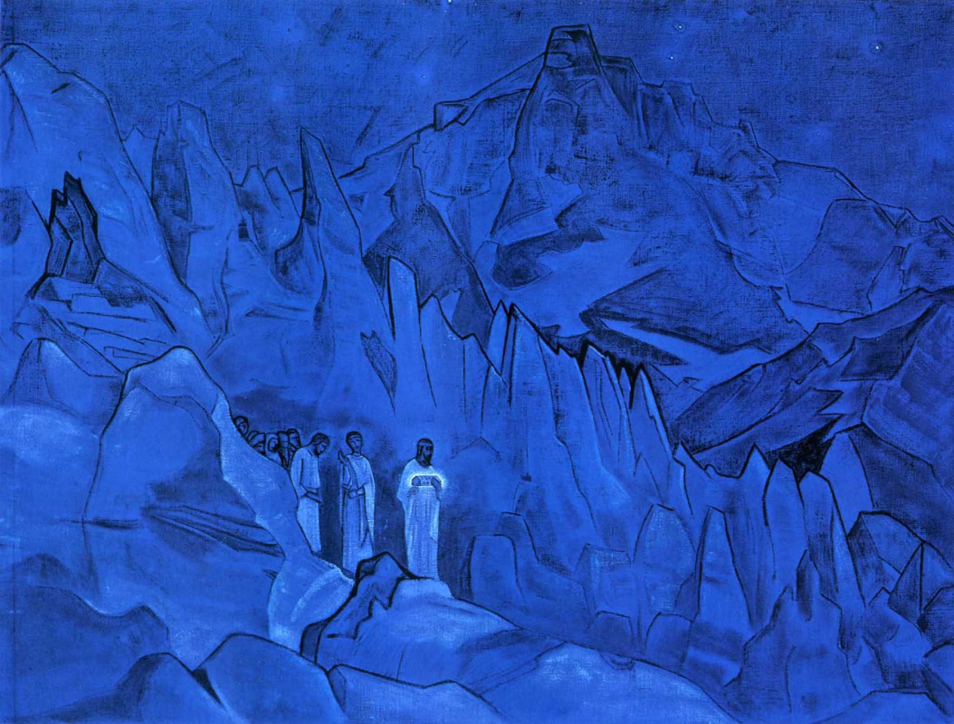 Nicholas Roerich. Burning of darkness