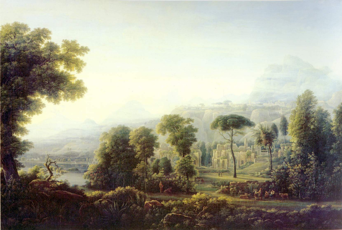 Федор Михайлович Матвеев. Вид в Сицилии. Горы
