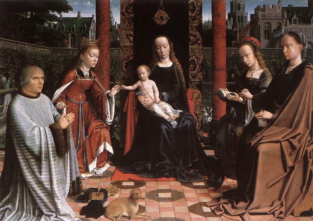 Герард Давид. Мистическое обручение Святой Екатерины