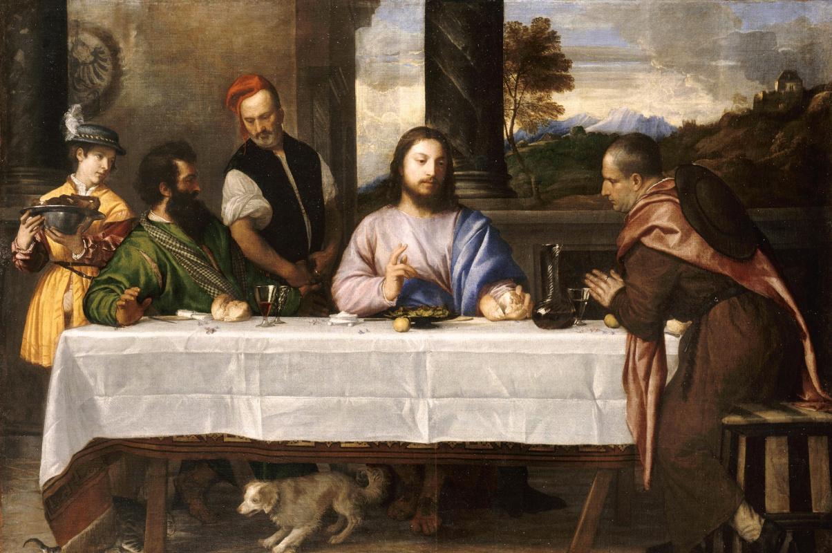 Тициан Вечеллио. Христос в Эммаусе