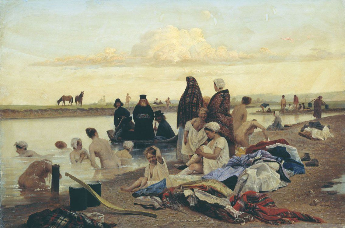 Lev Grigorievich Soloviev. Monks (come)