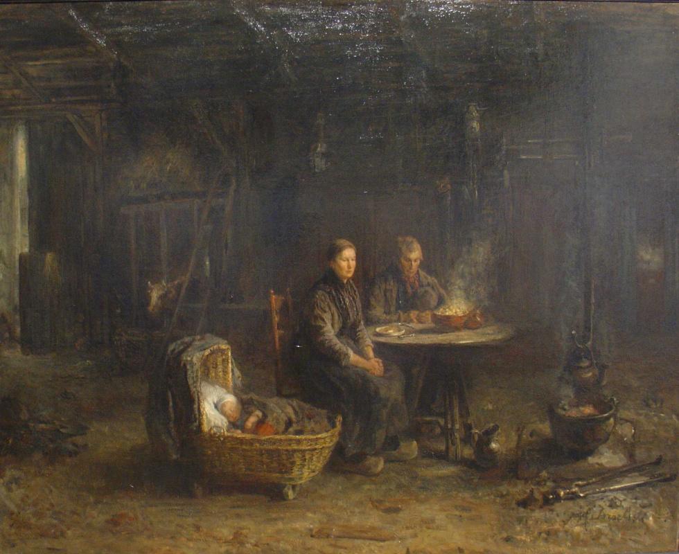 Joseph Israel. Peasants at supper