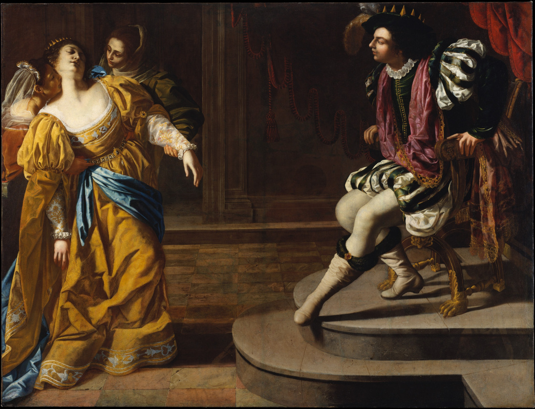 Artemisia Gentileschi. Esther before Artaxerxes
