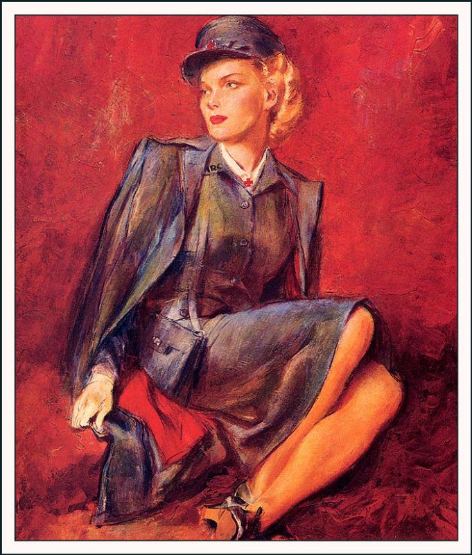 Джон Ла Гатта. Портрет работницы красного креста