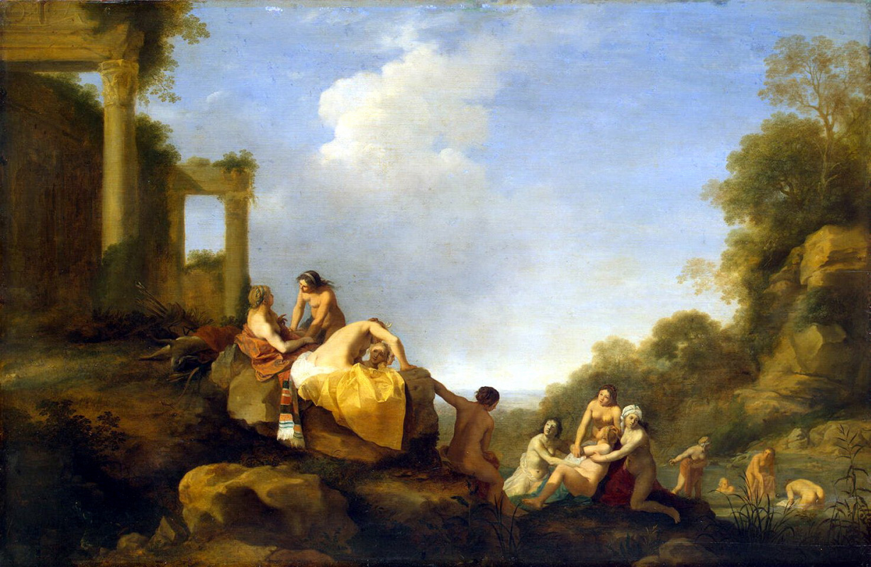 Корнелис ван Пуленбург. Пейзаж с Дианой и Каллисто