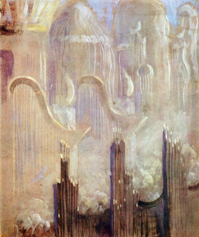 "Mikalojus Konstantinas Ciurlionis. From the series ""the Creation"""