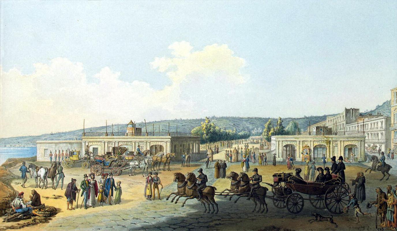 Анжелис де Кей. Вилла Реале в Неаполе