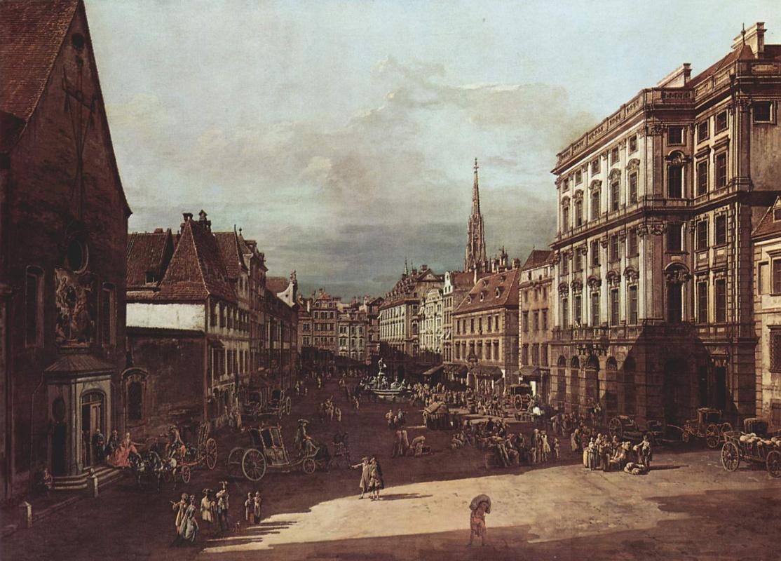 Джованни Антонио Каналь (Каналетто). Вид Вены, мучной рынок с юго-восточной стороны по направлению на северо-восток