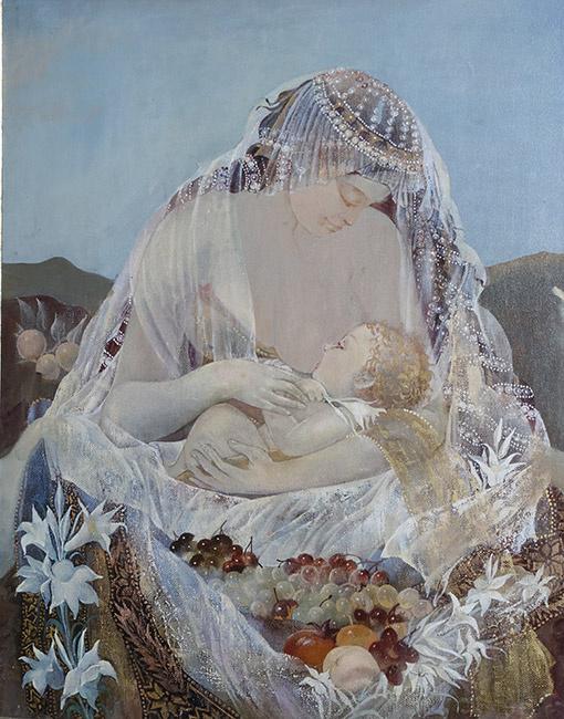 Виктория Алексеевна Тенета. Мадонна с младенцем.  2013