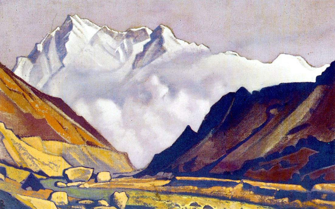 Nicholas Roerich. Nanga Parbat (the Valley from the snowy mountains)