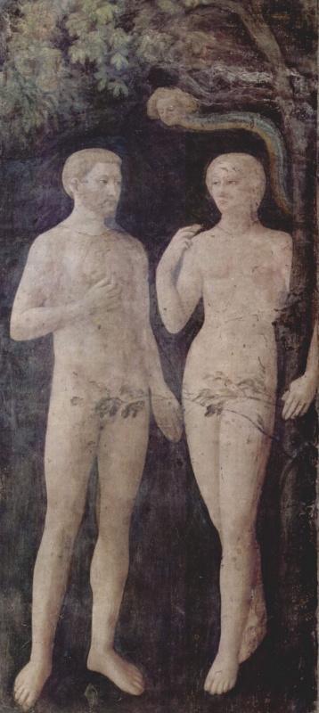 Томмазо Мазолино. Искушение Адама и Евы. Капелла Бранкаччи в Санта Мария дель Кармине во Флоренции