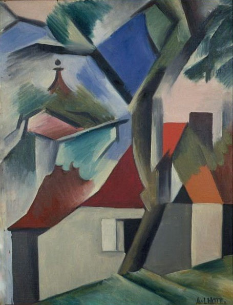 Андре Лот. Пейзаж с домами