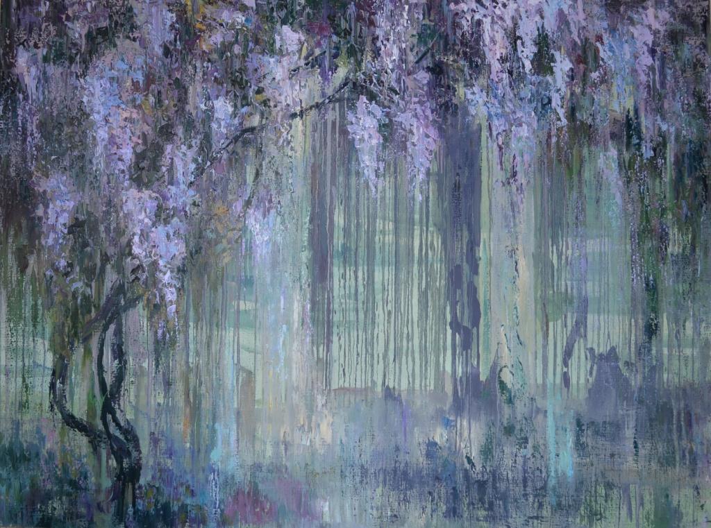 "Tanya Vasilenko. ""Wisteria"", oil on canvas. Glycine. Oil on canvas."