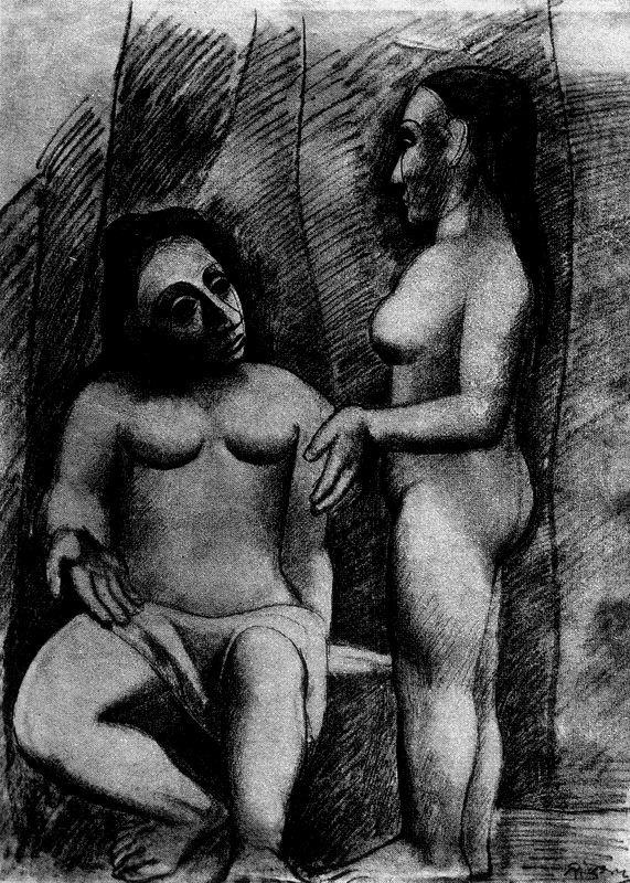 Пабло Пикассо. Обнаженная пара