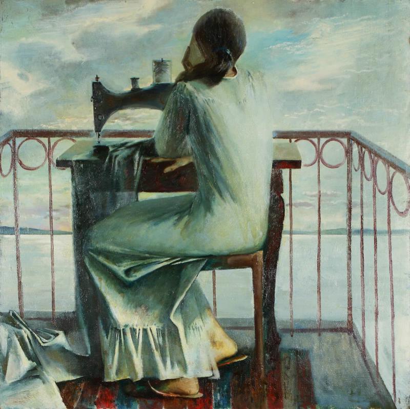 Anatoly Petrovich Rybkin. Morning on Lake Senezh