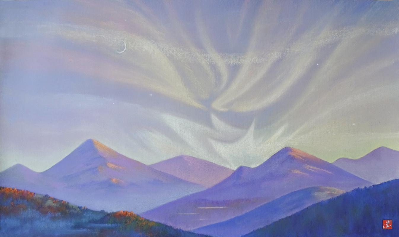 Sergey Ivanovich Elizarov. Altai, Flashes of sunset.