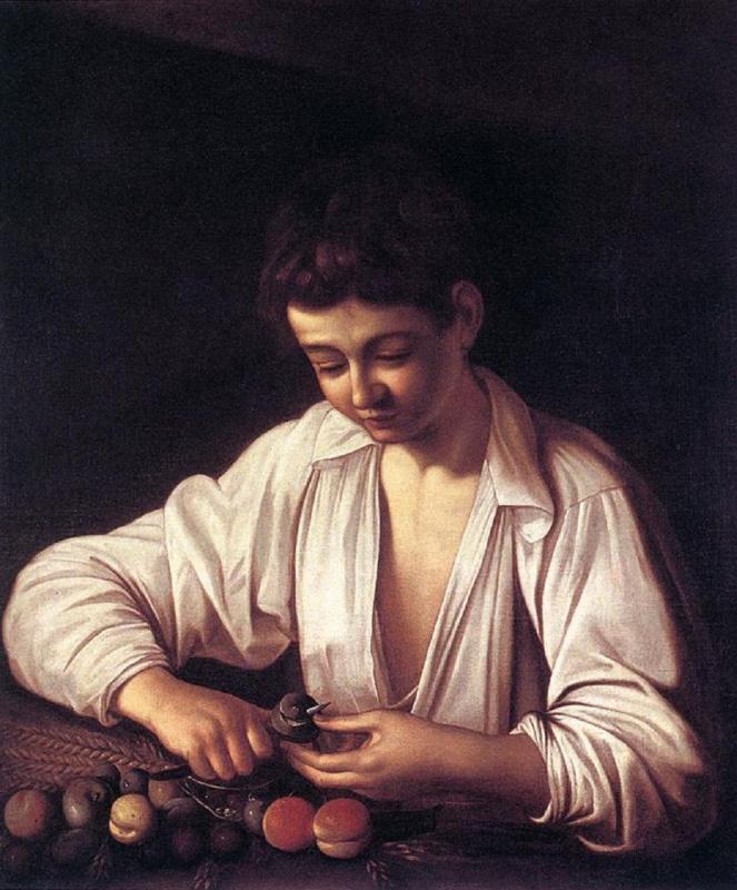 Микеланджело Меризи де Караваджо. Мальчик, чистящий фрукты