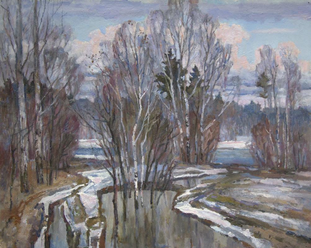 Oleg Borisovich Zakharov. Breath of early spring.