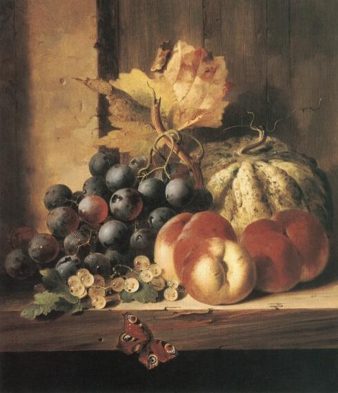 Эдвард Ладелл. Натюрморт с фруктами