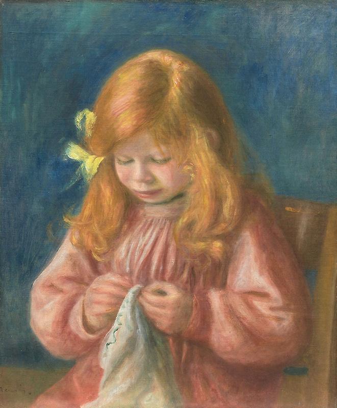 Pierre-Auguste Renoir. Jean Renoir sewing