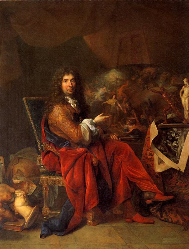 Nicolas de Largillière. Charles Lebrun, Painter of The King, 1683—1686