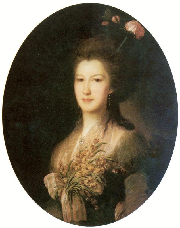 Fedor Stepanovich Rokotov. Portrait gr. Elizaveta Vasilievna Santi