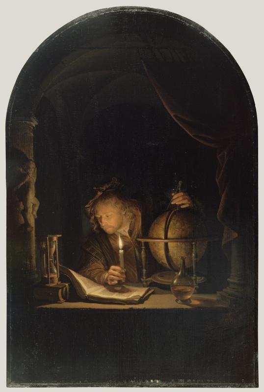 Геррит (Герард) Доу. Астроном при свете свечи