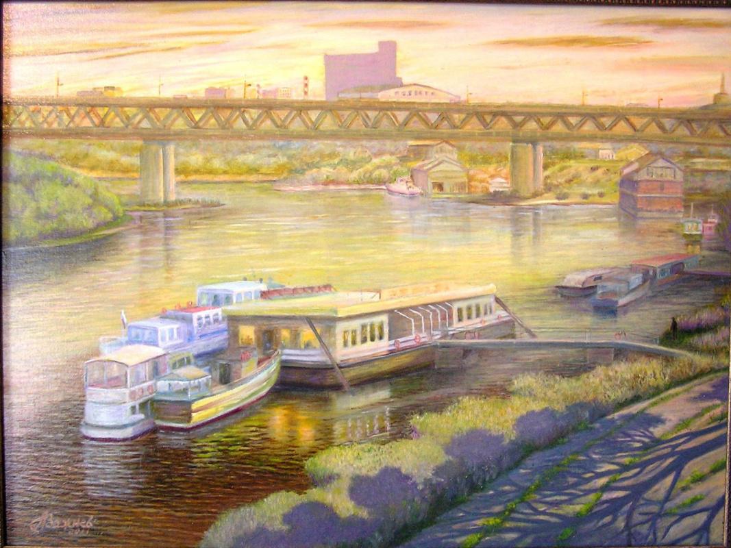 "Alexander Fedorovich Vazhnev. ""View of the Metromost. N. Novgorod."""