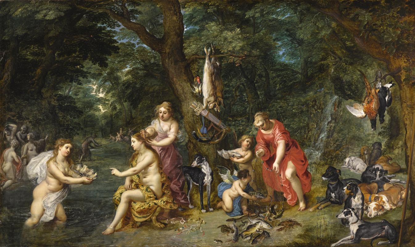 Ян Брейгель Старший. Диана и нимфы после охоты