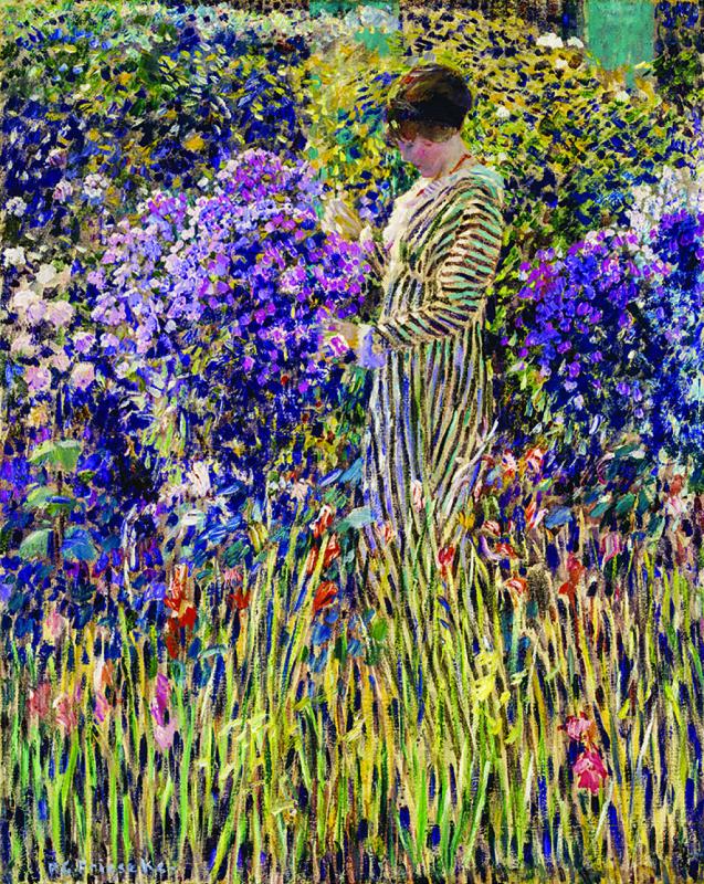 Фридрих Карл Фриске. Дама в саду