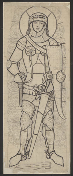 Ford Madox Brown. Gideon. Sketch for stained glass Windows