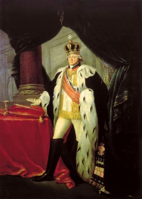 Сальватор Старший Тончи. Портрет императора Павла I