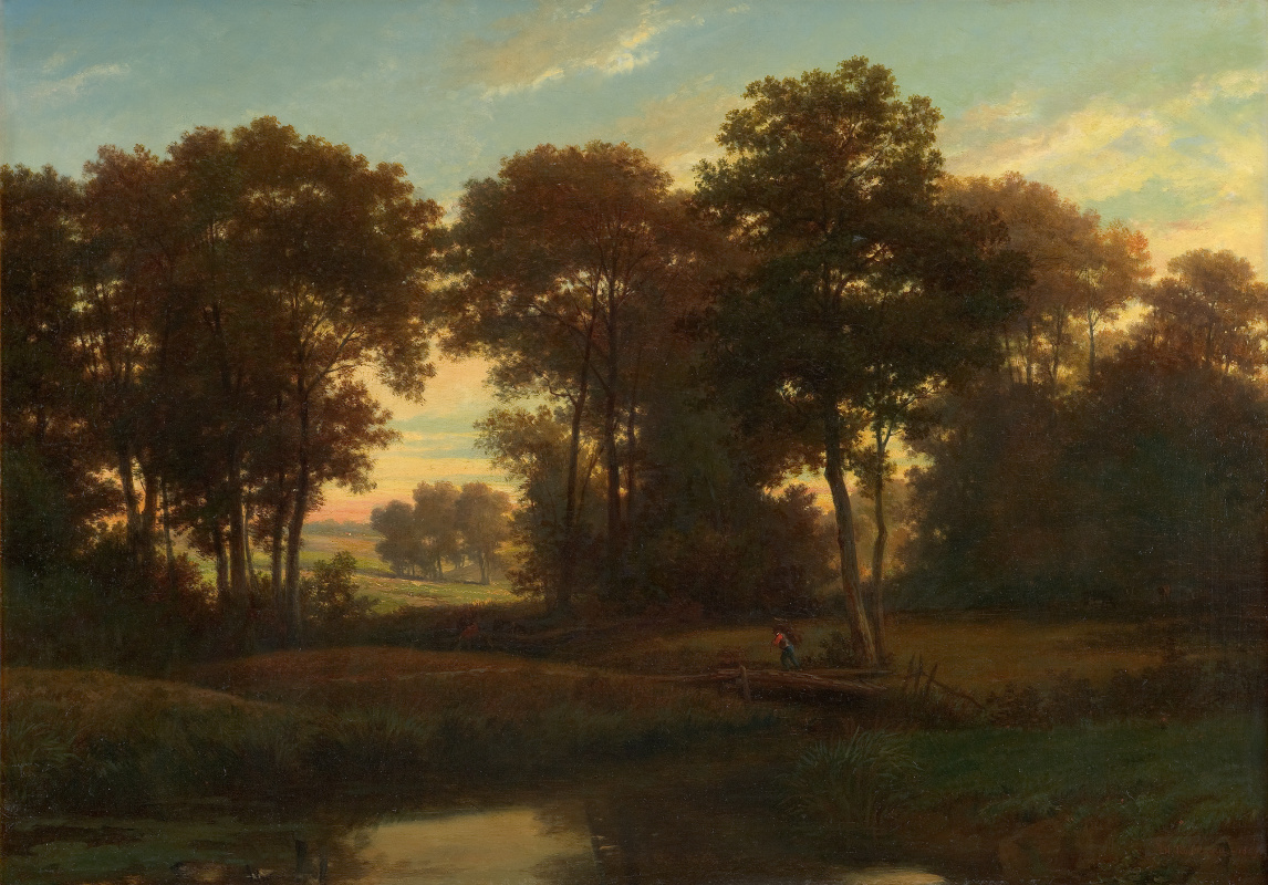 Theodore Rousseau. THE OUTSKIRTS OF BARBIZON