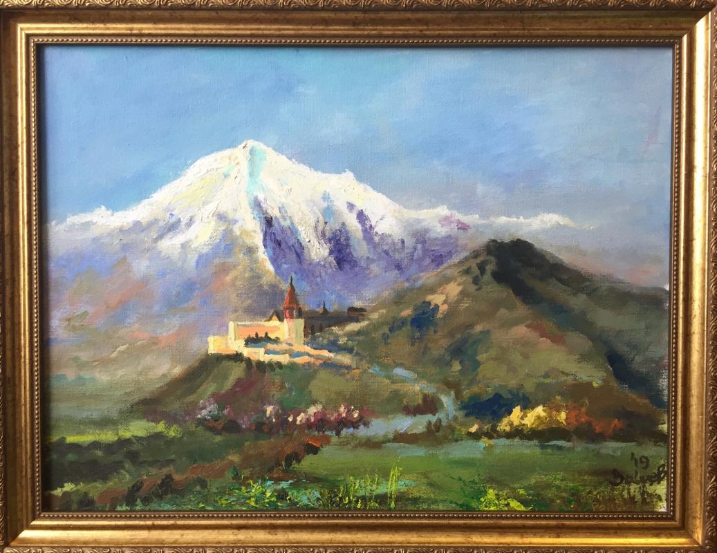 Roman Mikhailovich Zaitsev. Mount Ararat and Khor Virap Monastery