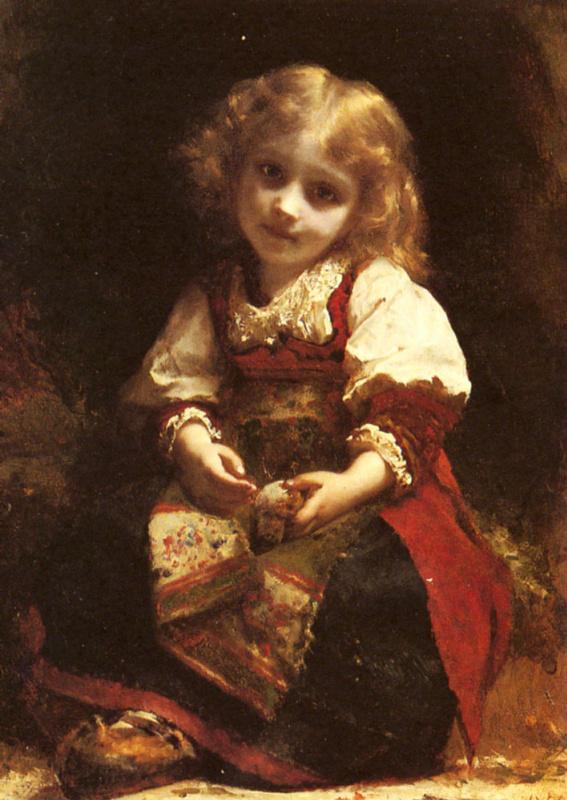 Этьен Адольф Пиот. Маленькая девочка