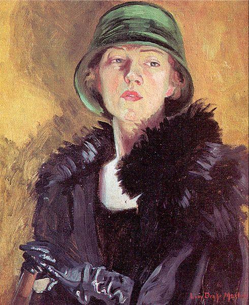 Уильям Марлоу. Дама в зеленой шляпе