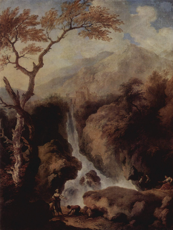 Христиан Вильгельм Эрнст Дитрих (Дитрици). Водопады в окрестностях Рима