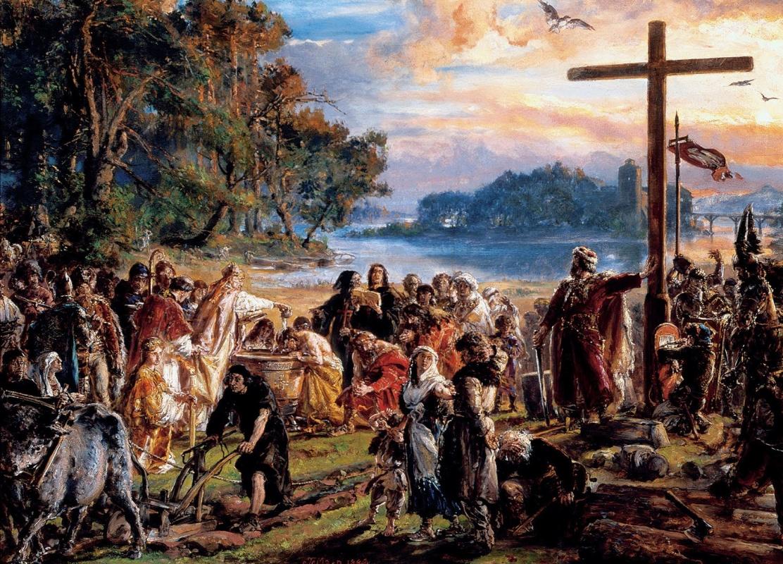 Ян Матейко. История цивилизации в Польше. Введение христианства в 965 году