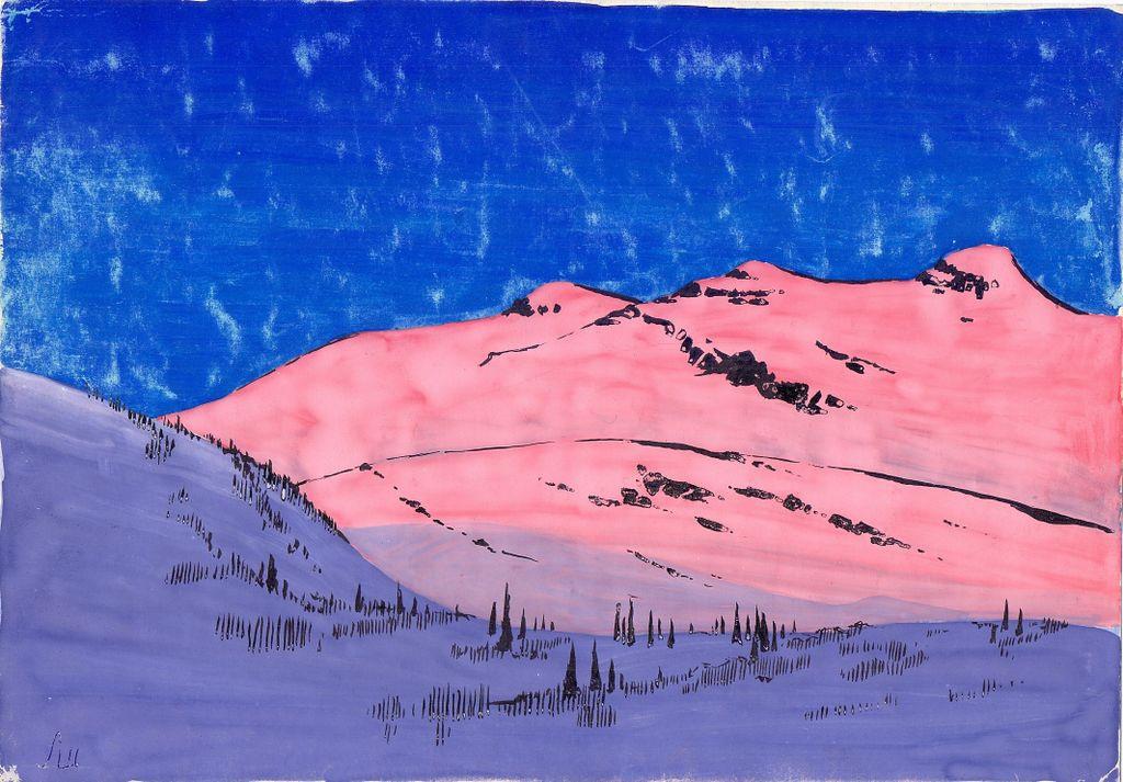 Larissa Alexandrovna Shilova. Pink mountains