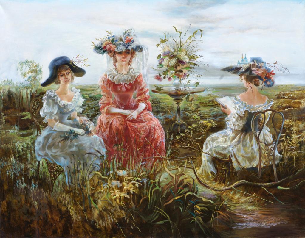 "Maya Gusarina. ""Three ladies"""