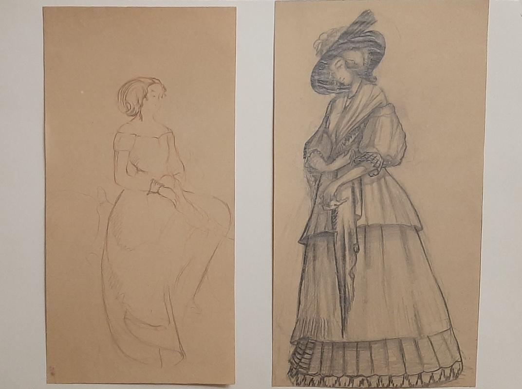 Natalia Agapieva - Zakharova. Women's portraits. Dresses of the 19th century.