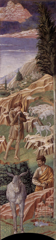 Беноццо Гоццоли. Пастухи с ослом