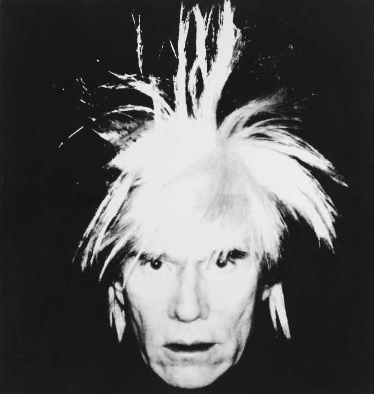 Andy Warhol. Self portrait (hair on end)