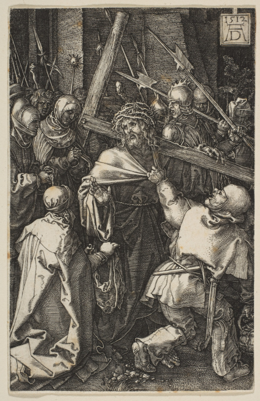 "Albrecht Dürer. Christ carrying the cross. From the cycle ""the passion of the Christ"""