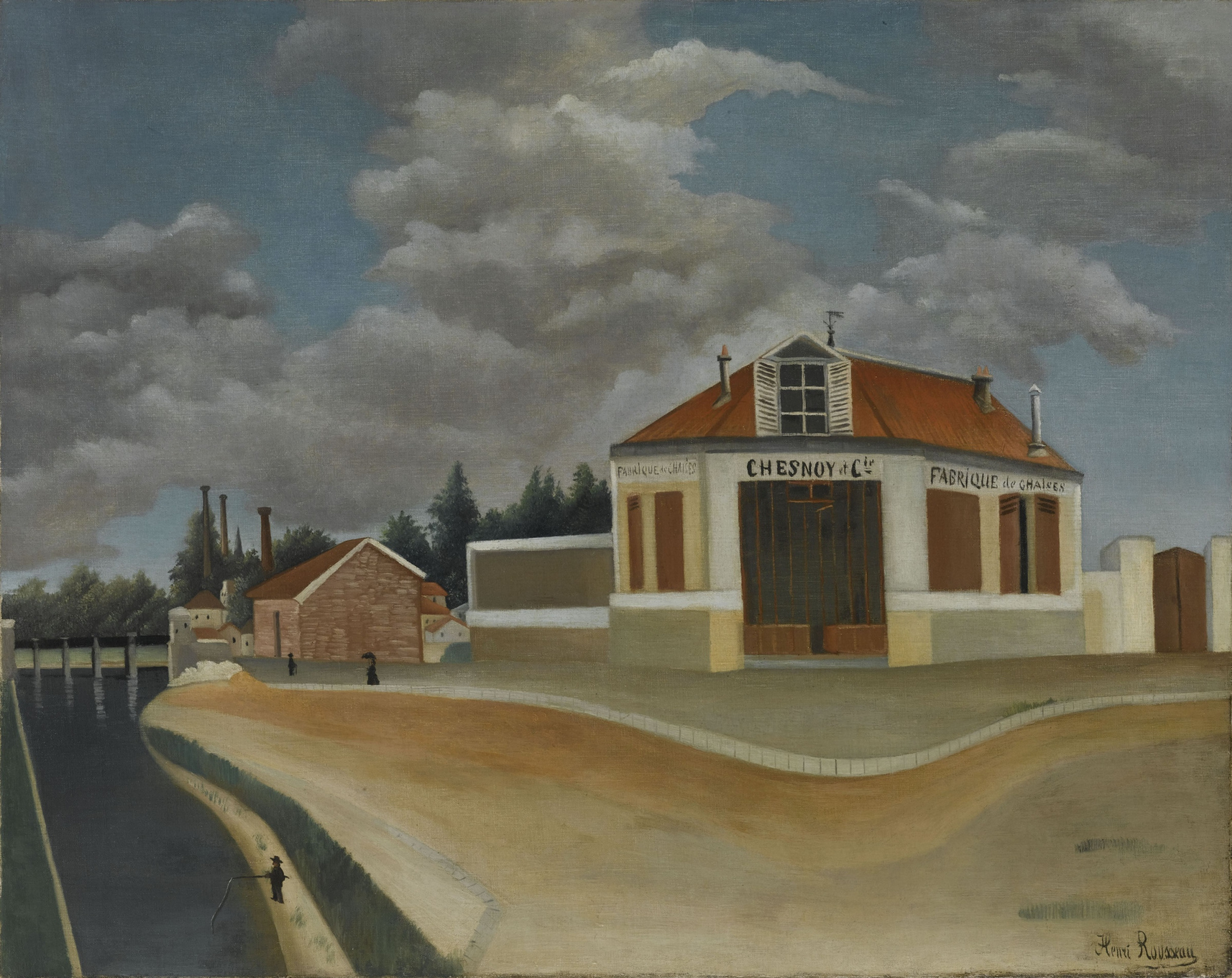 Henri Rousseau. Factory chairs in Alfortville