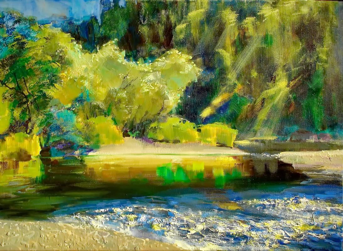 Evgeny Anatoleviz Babushkin. On the river