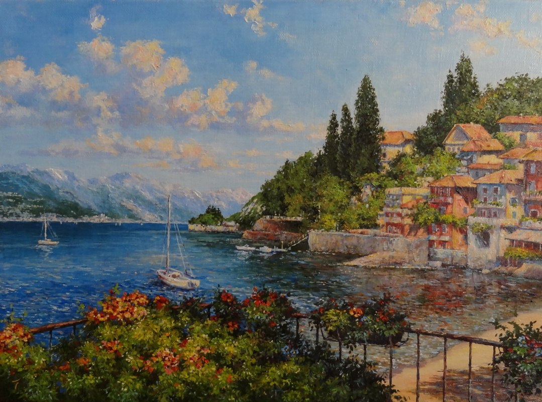 Irina Nikolaevna Borisova. Italian landscape. Varenna.